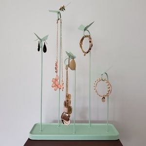 Meadow Jewelry Stand Mint Green Metal